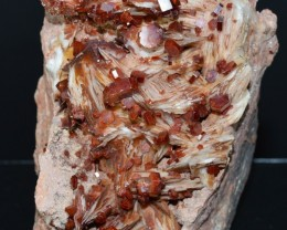 VANADINITE BARYTE 550 grams - RARE lustrous crystals cluster - Morocco