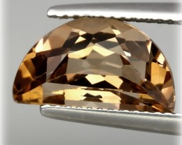 Unusual Caramel Topaz with fabulous luster and cut VVS natural gem