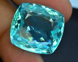 GIA Certified 27.97 ct Top Grade Greenish Blue Paraiba Tourmaline