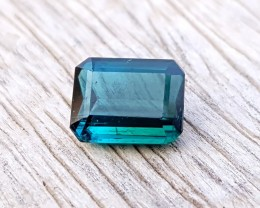 1.25 Ct Natural Blueish Transparent Ring Size Tourmaline Gem