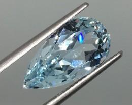 7.31 Carat VVS Topaz Ice Blue Pear - Exquisite Brazilian Quality !