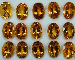 164.72Cts Natural Citrine Oval Calibrated Parcel 18 X 13