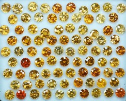 Marvelous Golden Yellow Zircon 5mm Round Parcel 68.94Cts