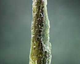 "1.77"" long Natural Moldavite with Olive green color"