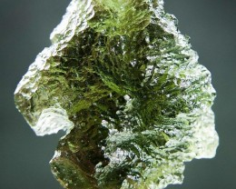 Shiny Moldavite quality A+ with Bottle green color with CERTIFICATE