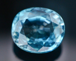 4.25 ct Natural Blue Zircon From Cambodia