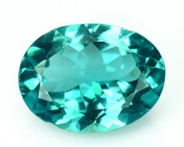 1.53 Cts NATURAL  APATITE - OVAL - PARAIBA BLUE GREEN - BRAZIL