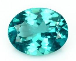 1.57 Cts NATURAL APATITE - OVAL - PARAIBA BLUE GREEN - BRAZIL