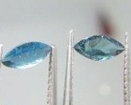 Certified 0.63ct Paraiba Tourmaline Pair , 100% Natural Gemstones