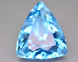 20.95 Ct Perfect Color Natural Blue Topaz ~ Swiss