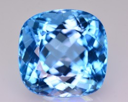 28.80 Ct Amazing Color Natural Blue Topaz ~ Swiss