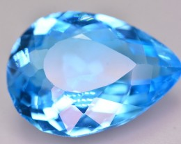 18.65 Ct Incredible Color Natural Blue Topaz ~ Swiss