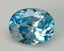 1.65 CTS BLUE ZIRCON Best Grade Gemstones JI23