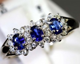 12.15-CTS SAPPHIRE RING BLUE AND WHITE   SG-2628