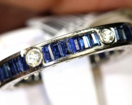 15.40-CTS  SAPPHIRE RING BLUE AND WHITE    SG-2635