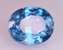 Certified 6.08 Ct Ravishing Luster Natural Vibrant Blue Zircon Z1