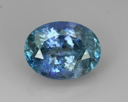 6.27 Cts GENUINE ULTRA RARE NATURAL GREENISH BLUE TANZANITE