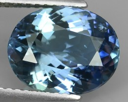 3.70 Cts GENUINE ULTRA RARE NATURAL GREENISH BLUE TANZANITE