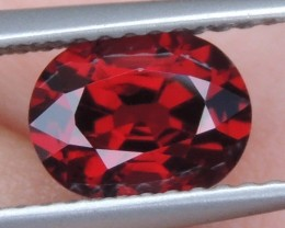 1.28cts  Certified, Red Spinel from Burma ,  100% Untreated,