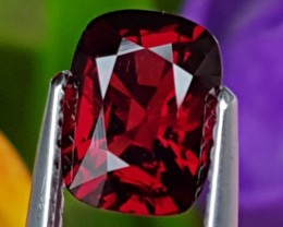 1.68cts  Certified Red Spinel from Burma ,  100% Untreated,
