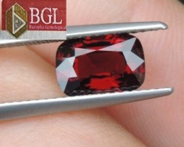 2.02cts   Red Spinel from Burma ,  100% Untreated,