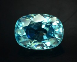 3.50 ct Natural Blue Zircon From Cambodia