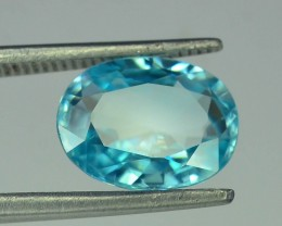2.90 ct Natural Blue Zircon From Cambodia