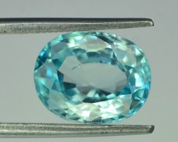 3.95 ct Natural Blue Zircon From Cambodia