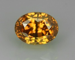 4.10 CTS DAZZLING ULTRA FIRE LUSTROUS HOT ORANGEY BROWN ZIRCON!!