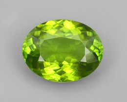 6.48 CTS FINE JEWELRY NICE GREEN PERIDOT EXCELLENT GEMSTONE NR!!