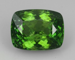 CERTIFIED 10.085 CTS GENUINE TOP GREEN COLOR APATITE CUSHION GEM BRAZIL