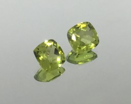 2.00 Carats VVS Peridot Calibrated Matched Pair - Exquisite Quality !