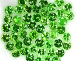 2.27 Cts Natural Bottle Green Tsavorite Garnet 2 - 2.3 mm Parcel 51Pcs Keny