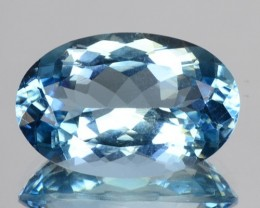 ~SANTA MARIA~ 6.33 Cts Natural Blue Aquamarine Oval Cut Brazil