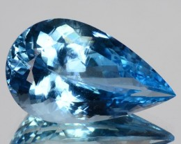 ~JEWELRY GRADE~ 11.48 Cts Natural Santa maria Blue Aquamarine Pear Brazil