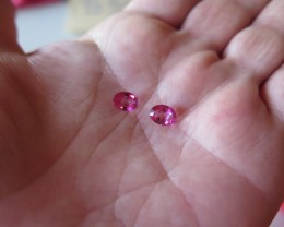 very nice pair of natural pink mystic  topaz 6x8mm