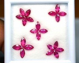 4.83 Cts Natural Pinkish Red Ruby 22 Pcs Marquise Cut Mozambique Gem