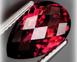 4.64ct REALLY LARGE EXOTIC CRIMSON RHODOLITE GARNET -