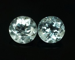 4.75 Cts Sparkling Luster - Round Gems - Natural Light Blue -Aquamarine NR