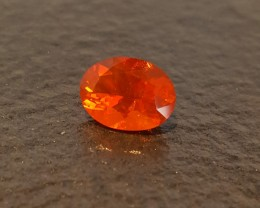 2.07 ct MEXICAN FIRE OPAL - CHERRY ORANGE!  MASTER CUT!