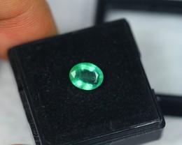 1.16ct Zambia Green Emerald Oval Cut Lot V2171