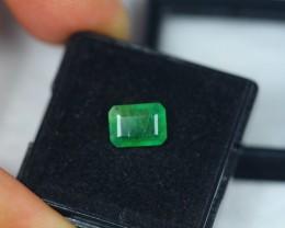 1.48ct Zambia Green Emerald Square Cut Lot V2181