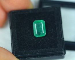 2.79ct Zambia Green Emerald Square Cut Lot V2184