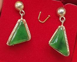 4.23cts, Burmese Jade,   Pure Green,  Good Translucency