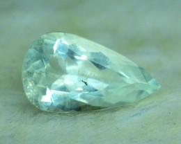 No Reserve -  10.20 cts Pear Shape Cut Untreated Aquamrine Gemstone From Pa