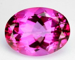 ~CANDY~ 15.16 Cts Pink Natural Topaz 16 x 12 mm Oval Cut Brazil