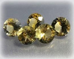 Beautiful gem parcel of Citrine gems 6.80mm VVS 5 pieces