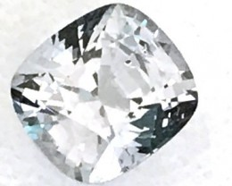 1.25 Silver Grey Cushion Cut Spinel - Burma  G106