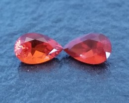 1.22 CTW CHERRY MEXICAN FIRE OPALS - MASTER CUT!  FLAWLESS!