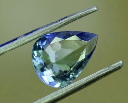 No Reserve -  1.70 cts Pear Shape Cut Lovely Tanzanite Loose Gemstone